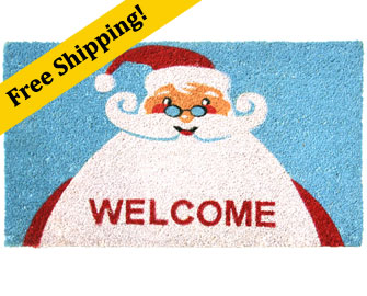 Santa Claus is Back! Christmas Doormat   sc 1 st  Rubber-Cal & Contemporary Holiday Door Mats