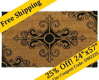 \ Traditional Fleur de Lis French Mat\  : mat door - pezcame.com