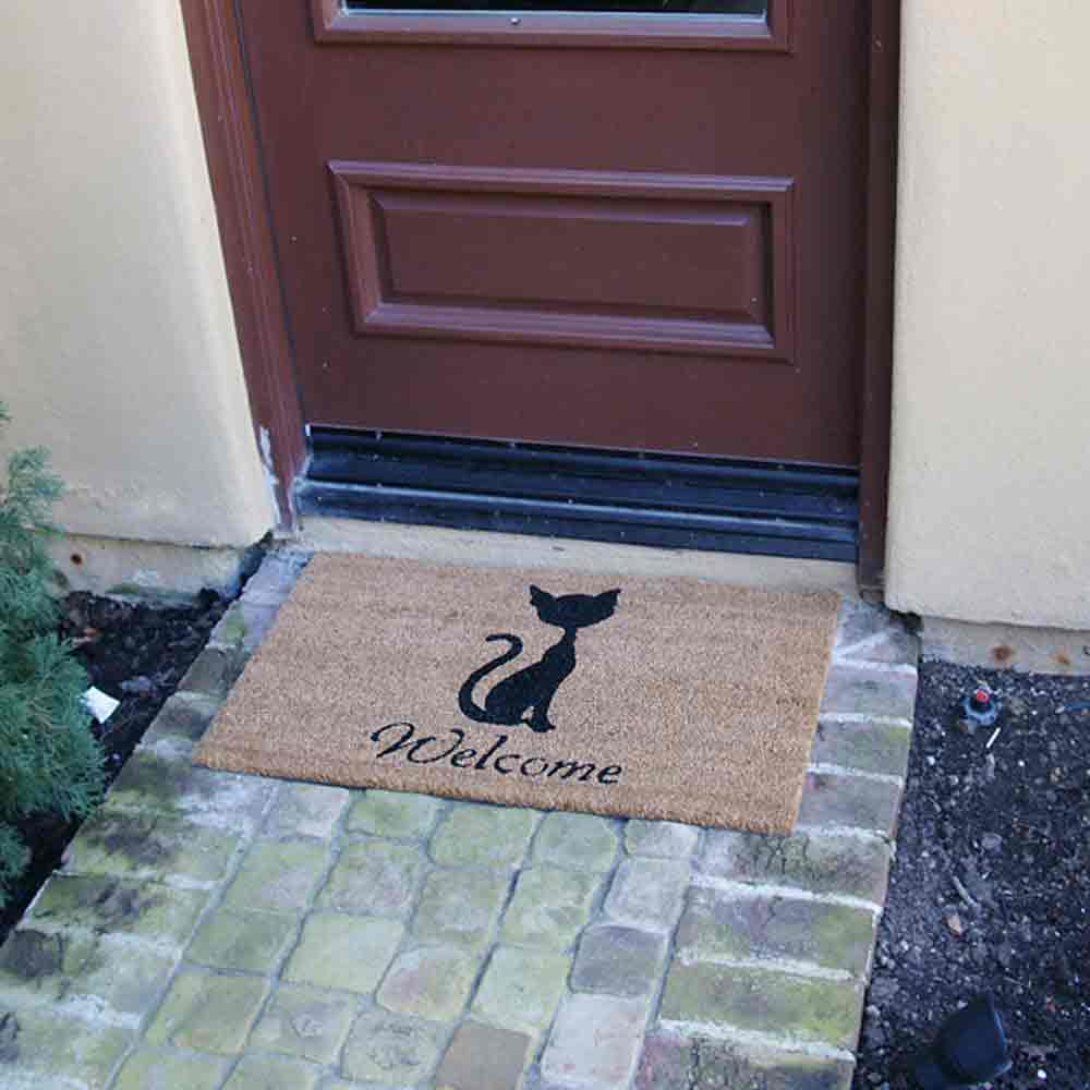 promising your cat you to design home n doormat from coco doormats now welcome moustache remove mats funny mat more i outdoor