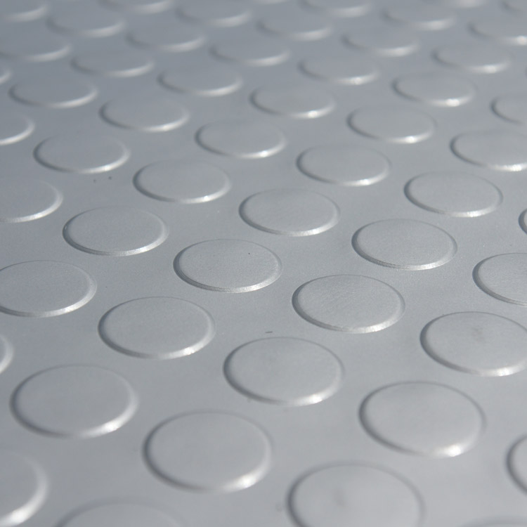 Coin Grip Metallic Rolled Pvc Flooring