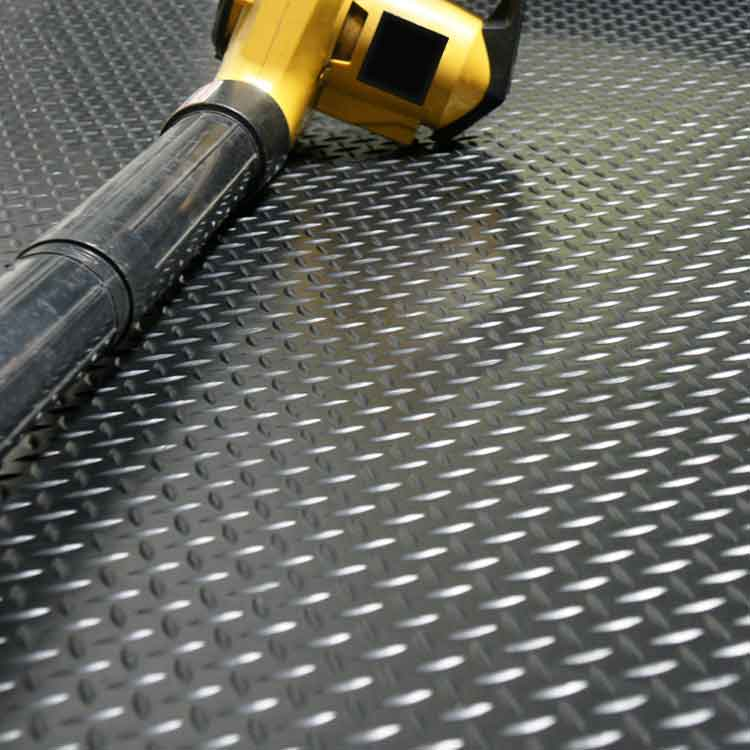 Diamond plate roll rubber matting for Rubber flooring