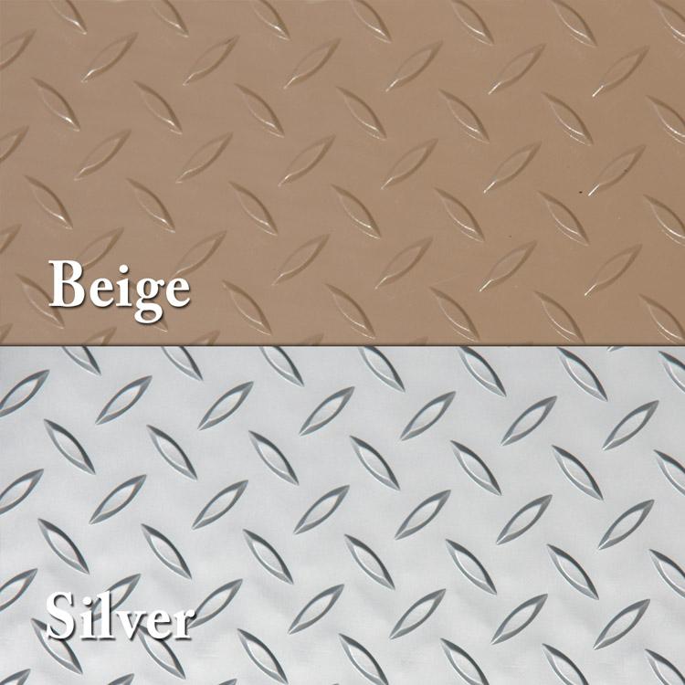 Diamond Plate Metallic Pvc Flooring