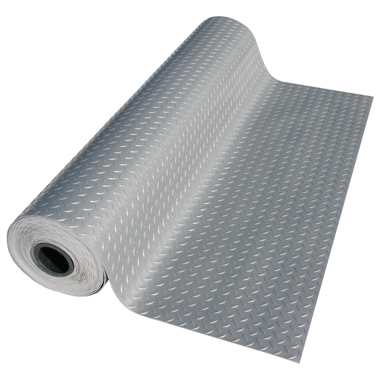 Exceptional U201cDiamond Plate (Metallic)u201d PVC Flooring Rolls