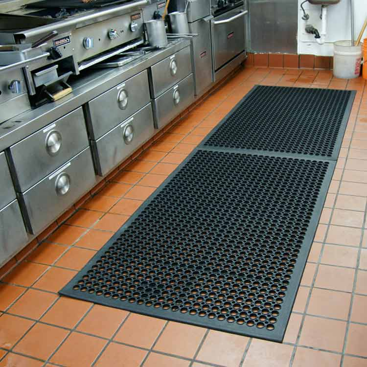 mat for kitchen floor quot dura chef 1 2 inch quot rubber comfort mats 7396
