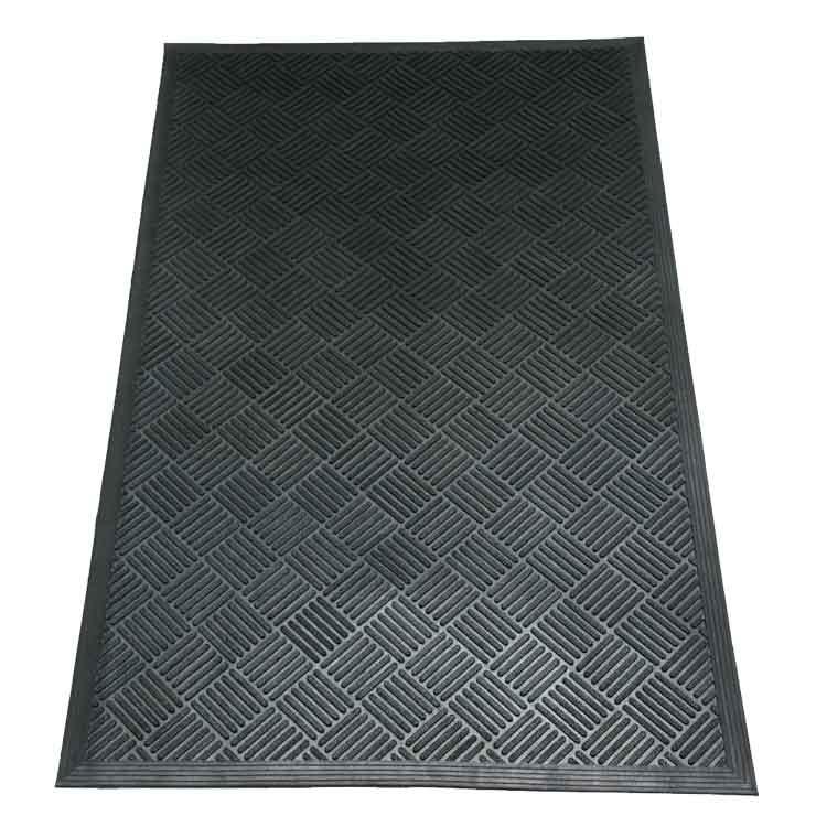 details hardwearing rubber itm outdoor heavy doormat duty modern natural scraper sherpa mat about door coir