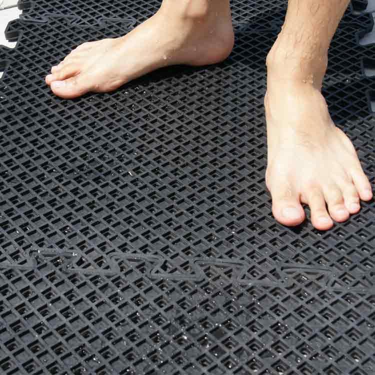 """Eco Drain"""" Interlocking Rubber Tile"""