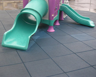 Eco safety rubber playground surfacing for Outdoor safety flooring