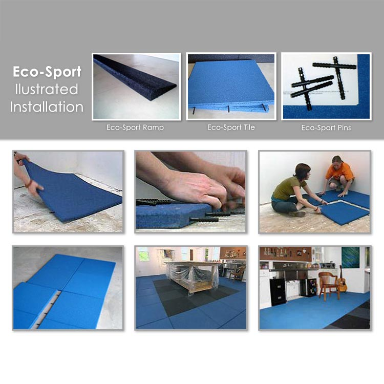 Eco Sport 1 Inch Interlocking Rubber Flooring Tiles