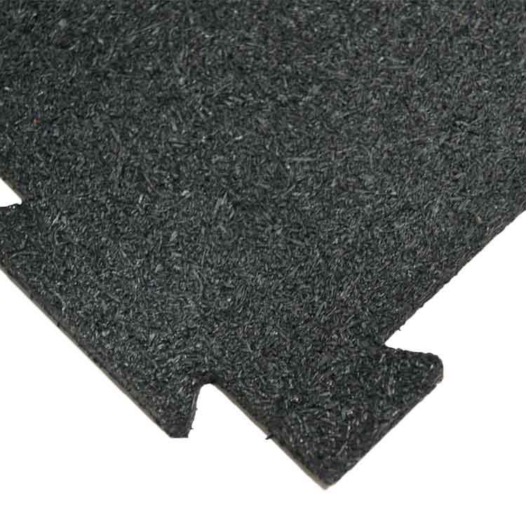 PuzzleLock Rubber Interlocking Mats - Black and white interlocking floor mats