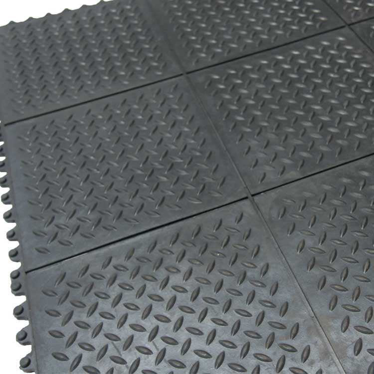 Revolution Diamond Plate Interlocking Floor Tiles