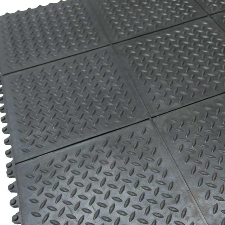 Revolution Diamond Plate Interlocking Floor Tiles