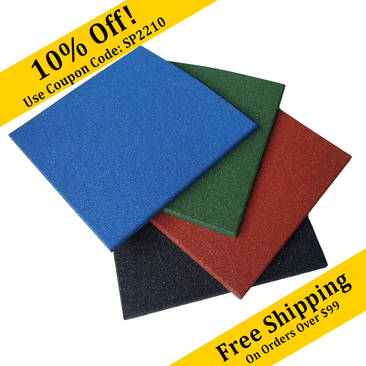 Eco Sport 34 Inch Interlocking Rubber Flooring Tiles