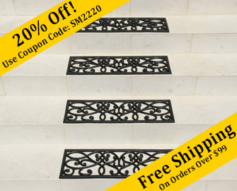 New Amsterdam Rubber Stair Treads 6 Pack