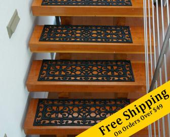 Regal Rubber Non Slip Stair Mats 6 Pack