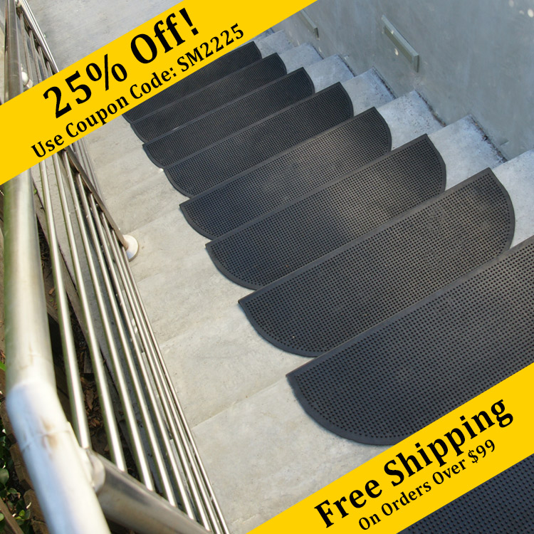 Quot Grip Tight Quot Rubber Stair Treads