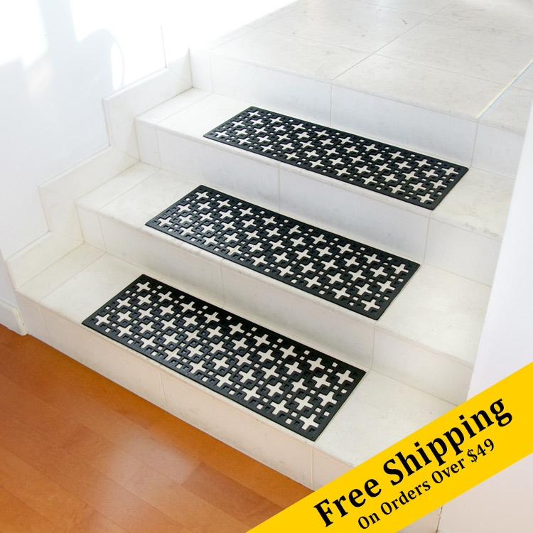 Stars Rubber Stair Treads 6 Pack
