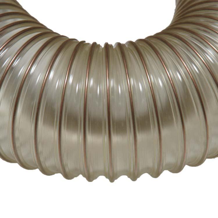 4 Inch ID Flex-Tube PU Urethane Dust And Material Handling Hose 25 Feet Long
