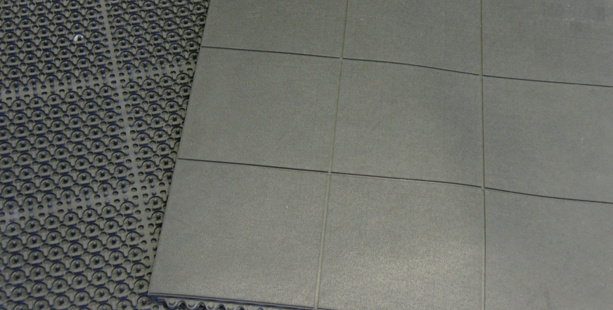in working with a gym garage securing heavy stall duty floor for mats rubber