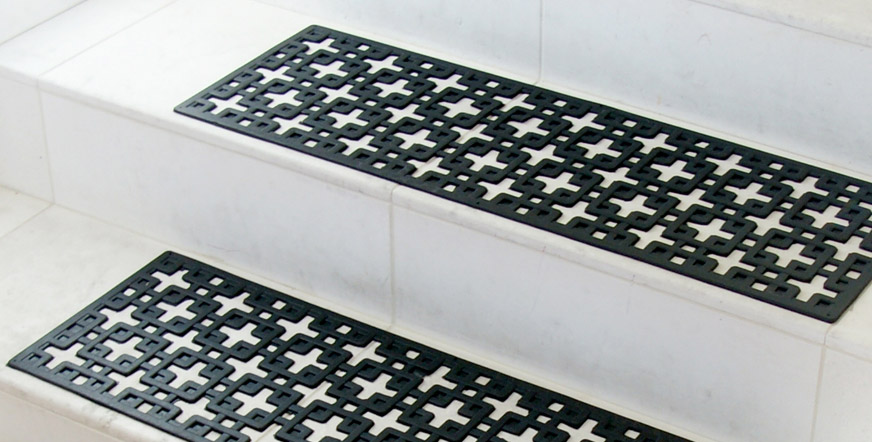rubber stair tread - Rubber Stair Treads